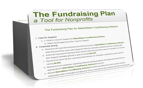 fundraising plans for nonprofits template