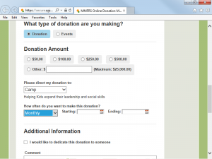 Accept any type of online donation or event registration and allow donors to give automatically with recurring options.